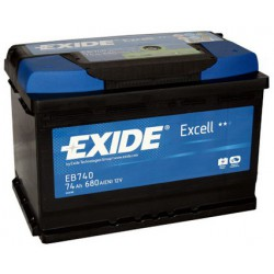 Autobaterie EXIDE Excell 74 Ah (EB 740)
